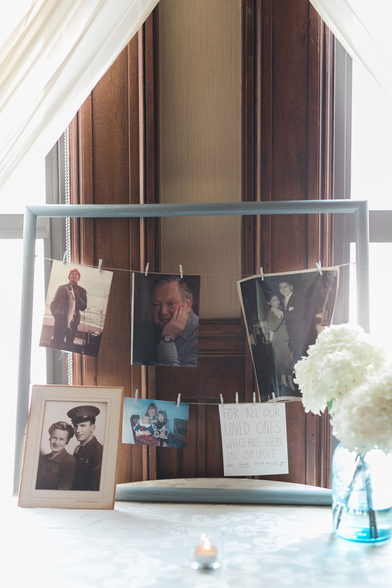 DIY wedding reception photo frame