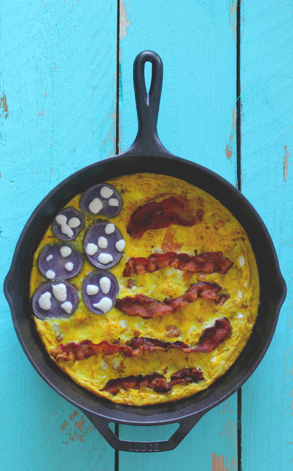 american flag fritatta on midwestlovefest