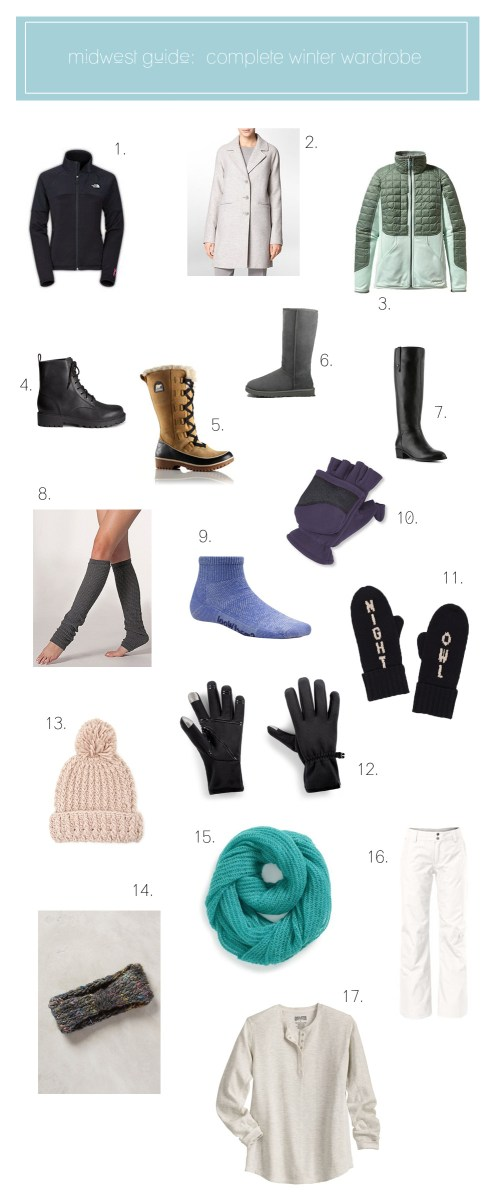 Winter Wardrobe Basics: what you need to survive a midwest winter