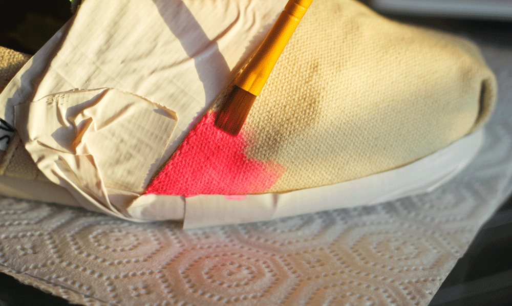 DIY watercolor TOMS // midwestlovefest