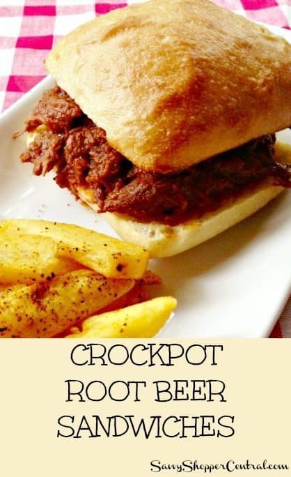 Crockpot Root Beer Sandwiches