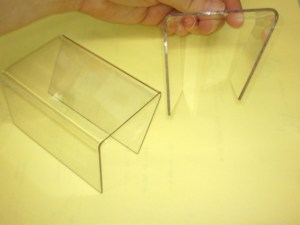 Clear Acrylic Hanger for Mounting sign over the partition Image