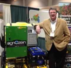 Ernie Wilmink with his latest ozonator: the Ozero