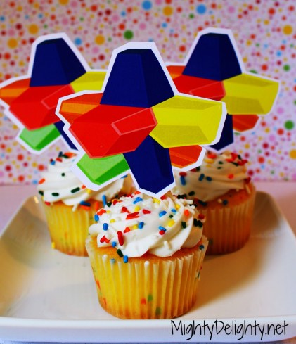 Everlasting Gobstopper cupcake toppers