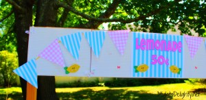 Lemonade Stand banner sign and bunting