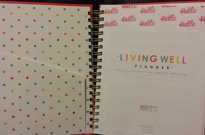 2016 Living Well Planner Review