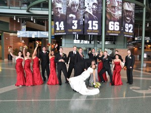 W-wedding-party-lambeau-field