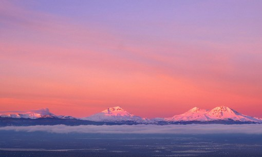 """Three Sisters Alpenglow"""