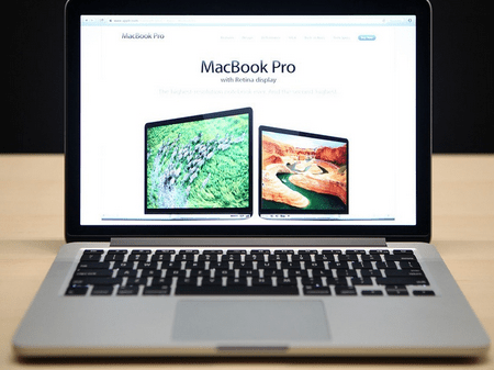 Marketing shot of MacBookPro