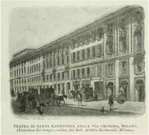 la piermariniana facciata del Teatro di S. Redegonda