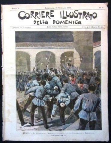 Le rivolte al Marchiondi non erano infrequenti, così come i tentativi di fuga. La copertina del Corriere Illustrato ricorda quella del 1903