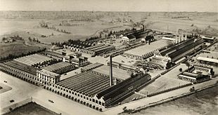 Vista dell'area industriale del portello negli anni '30