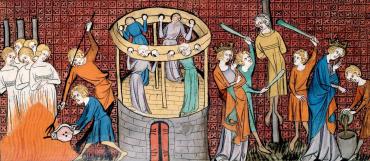 Il processo e alcuni passaggi del processo del XIII sec., ai seguaci di Guglielma la Boema, prima proclamata santa e poi scomunicata come eretica