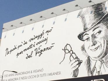 Una pubblicità che incarna lo spirito del vecchio milanese.