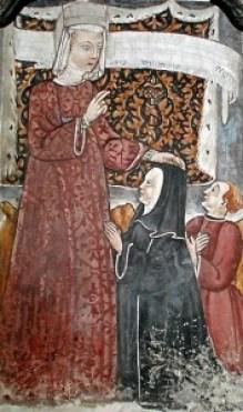 Un affresco che immortala Guglielma la Boema, nella chiesa di Brunate, sopra Como