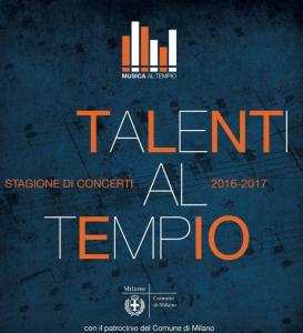 Il cartellone di quest'anno dell'Associazione Musica al Tempio