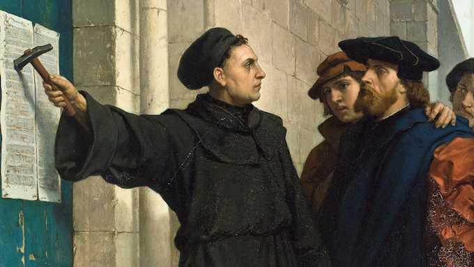 Lutero e 95 tesi