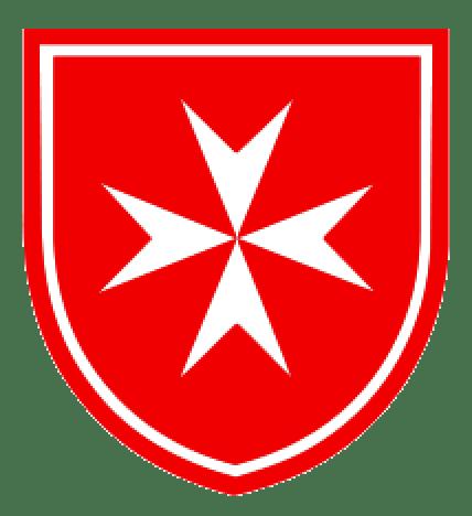 La croce simbolo dell'ordine, a otto punte quante erano le lingue parlate nella vecchia Europa