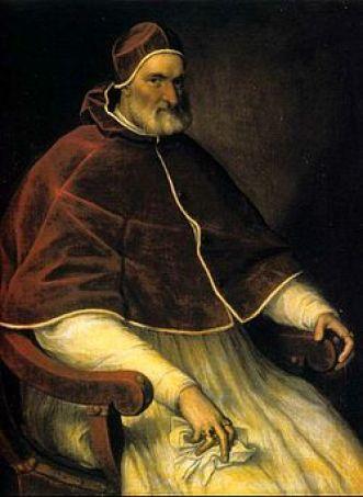 Giovan Angelo Medici, divenuto papa Pio Iv, venne immortalato da Tiziano