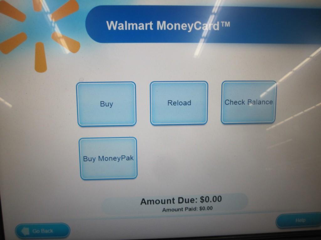 walmart money center machine