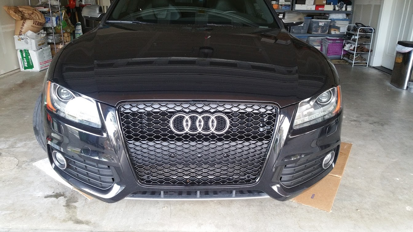 Changing the front grill on my Audi S5 | Miles per Day on 2010 acura tsx grill, 2010 dodge challenger grill, 2010 ford edge grill, 2010 acura mdx grill, 2010 ford mustang grill, 2010 cadillac cts grill, 2010 toyota camry grill, 2010 nissan murano grill, 2010 honda insight grill, 2010 gmc terrain grill, 2010 chrysler 300 grill,