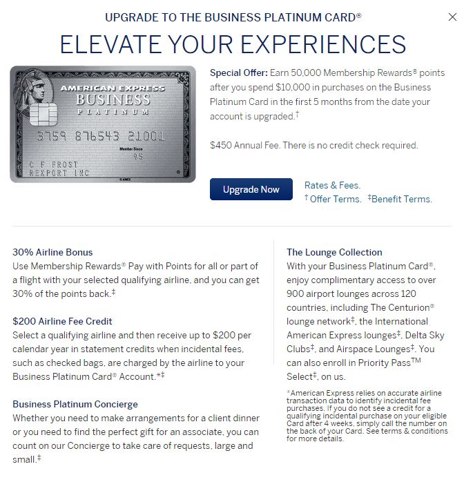 Upgrade from the amex business green card to the platinum and get amexplatupgrade reheart Image collections