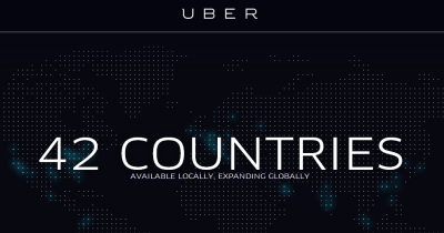 Uber available in 42 countries.