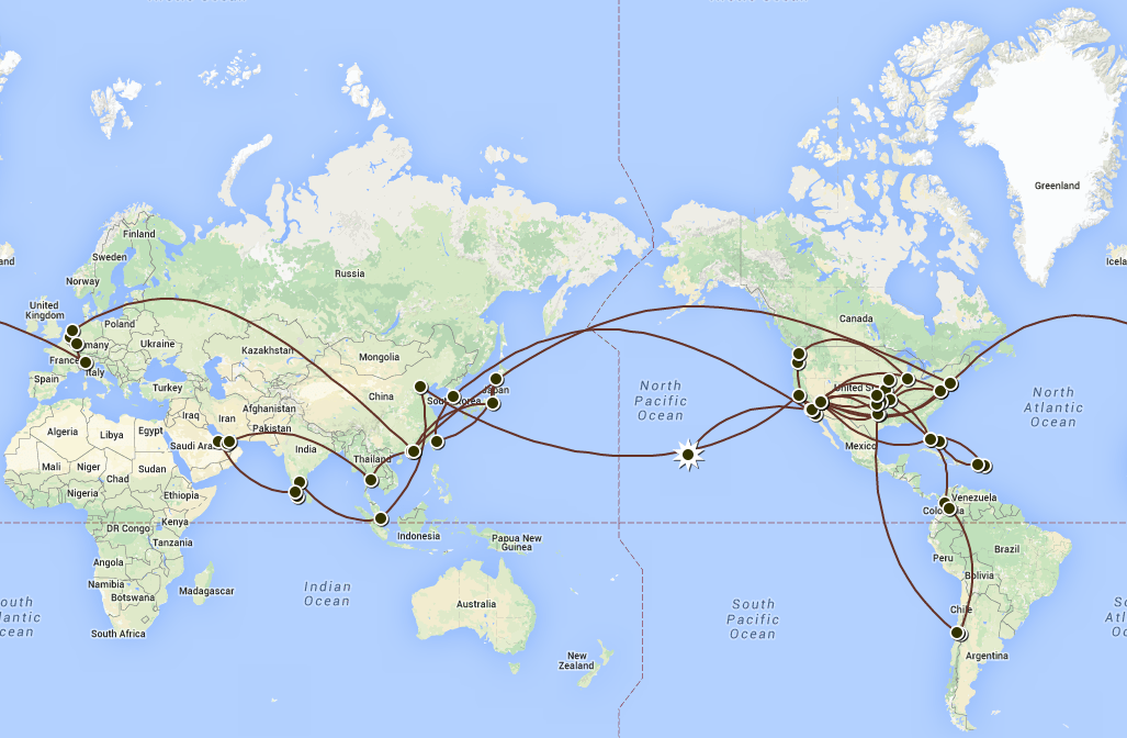 Map Of My Travels – Map My Travels