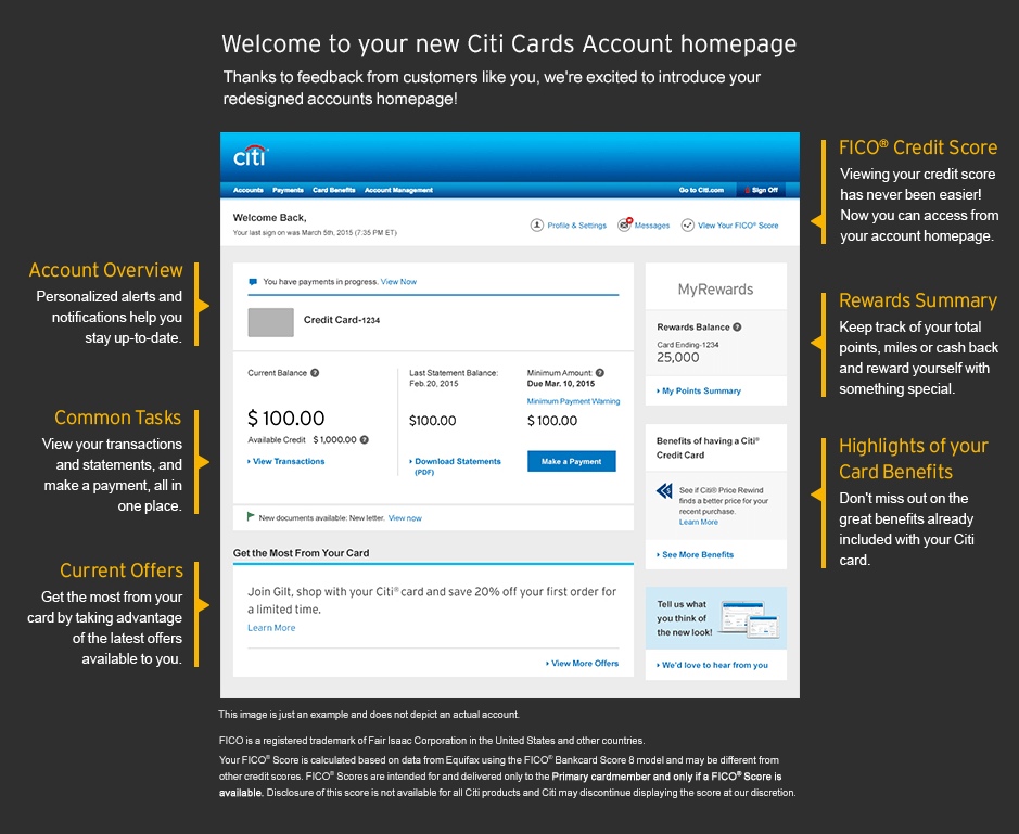 Come See The New Citi Cards Homepage