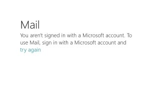 Windows 8 Mail App Error Message