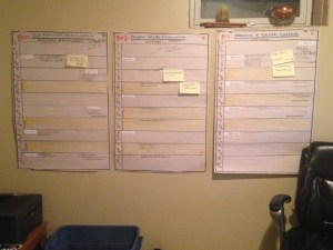 Course timelines and project charts help visualize work flow over longer periods.