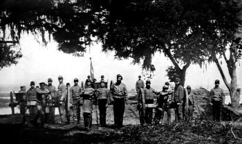 A Confederate battery.