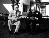 FDR and Churchill presented a united front at the Casablanca Conference. Behind the scenes the two had at time widely differing views on how to bring down the Third Reich. (Image source: WikiCommons)