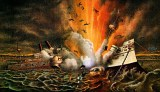 Two hundred and sixty American sailors were killed when the USS Maine exploded in Havana harbour. Many in the United States (wrongly) blamed Spain for the blast. The incident precipitated a war between the two powers.  (Image source: WikiCommons)