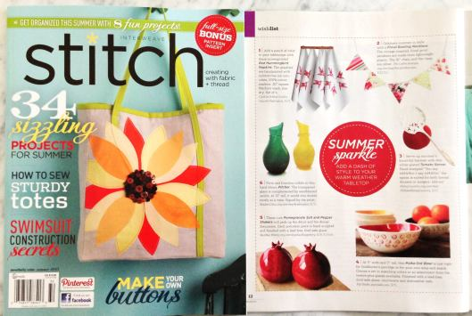 Stitch Magazine, Summer 2013