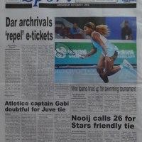 Kurasa za mwanzo na mwisho magazetini leo October 01 2014