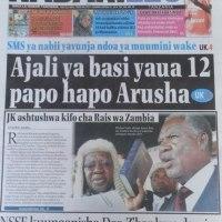 Kurasa za mwanzo na mwisho magazetini leo October 30 2014