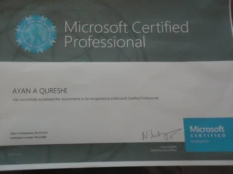 Hiki ndicho cheti alichopewa mtoto huyo na Kampuni ya Microsoft.