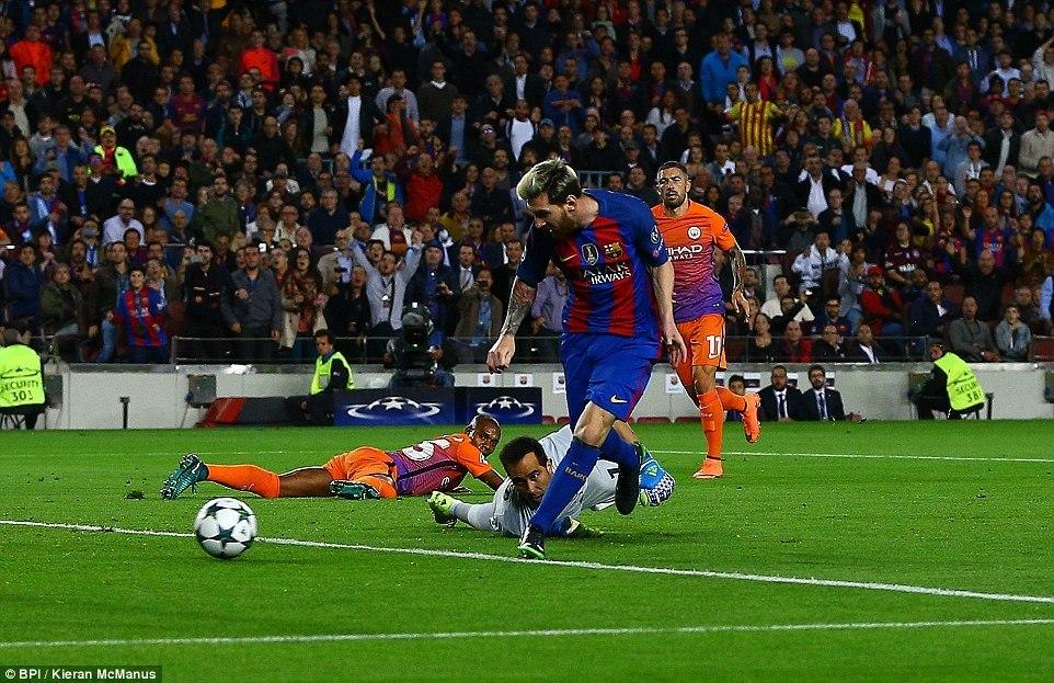 Lionel Messi kainyanyasa Man City ya Guardiola Nou Camp