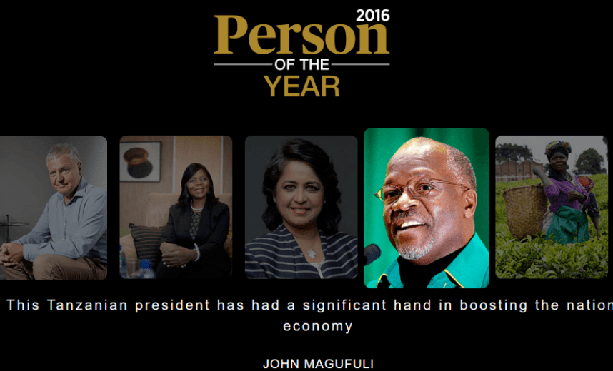 President Magufuli has been shortlisted for the Forbes for famous people in Africa