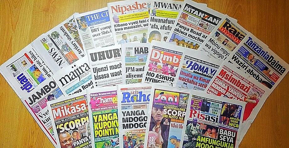 Magazeti ya Tanzania October 19, 2016 kuanzia, Udaku, Hardnews na michezo