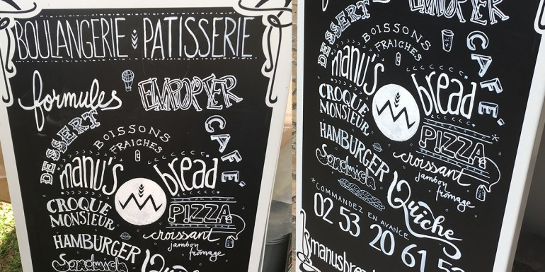 Exemple Lettering Chevalet