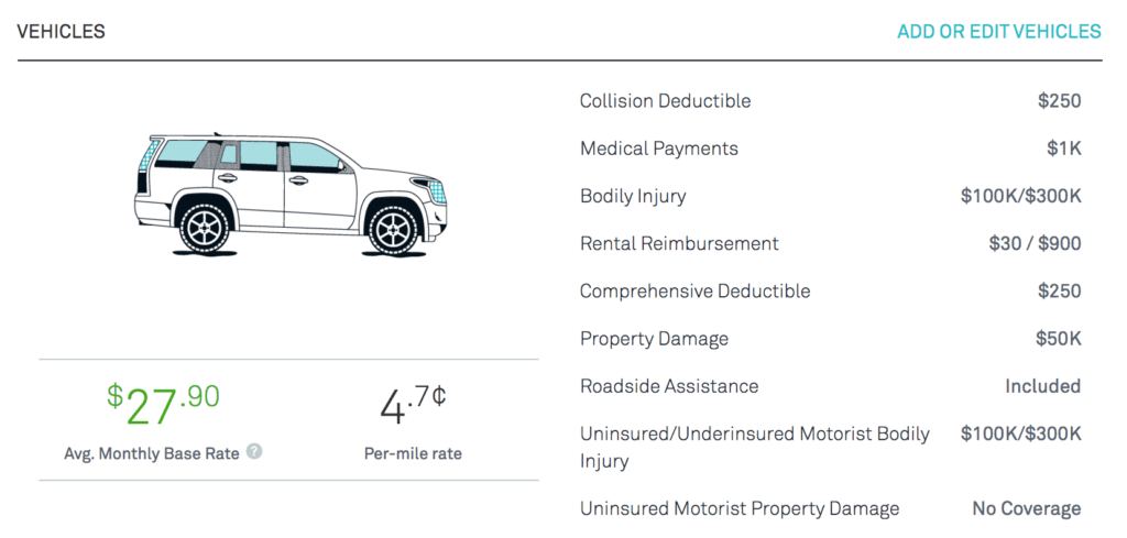 metromile car insurance policy