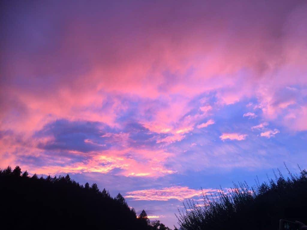Napa Valley Sunset at Auberge Du Soleil