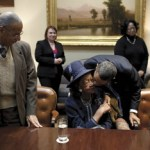 Dorothy Height meeting with President Barack Obama