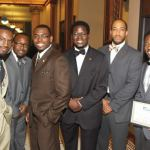 The young men pictured above served as 'Be the Change' Chapter Leaders for the literacy, leadership and life skills program launched by Ald. Ashanti Hamilton in June. Recently, the summer program held its culmination ceremony at the Milwaukee City Hall Rotunda. Several young men are pictured above from (r to l): David Bowen, Tristan Gross, Kiarri McBroom, Supreme S. Allah, Mandela Barnes and Richard Givhan. (Photo by Robert A. Bell)