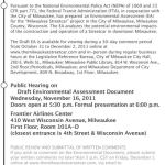 The Milwaukee Streetcar – Notice of Availability and Public Hearing
