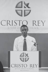 Cristo Rey Graduate Jahi Brown