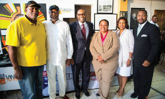 Bradley Thurman-Owner Coffee Makes You Black, Eric Von, Rahim Islam, Ald Milele Coggs, Dr. Eve Hall