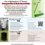 City of Milwaukee Department of Public Works Hosts 5th Annual Compost Bin and Rain Barrel Sale